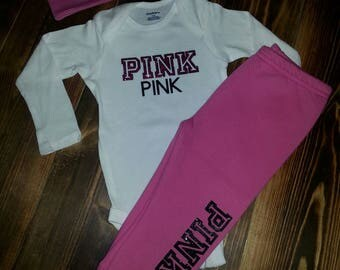 Infants custom made Pink Set