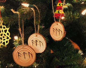 Futhark Norse Rune Protection Amulet, Ornament, or Pendant
