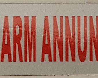Fire Alarm Annunciator Signs - Red Aluminium (3 X 10)
