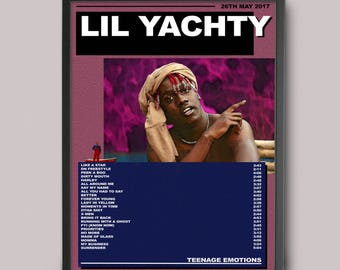 LIL YACHTY Teenage Emotions Custom Music Poster // Instant Download // Printable // A3 Album Art // Wall Art