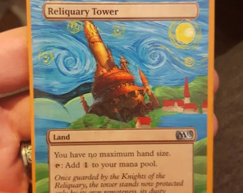 Mtg alter Reliquary Tower, Starry Night, Van Gogh