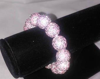 Stretchable Pink Bling Bracelet