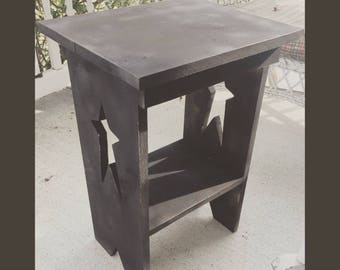 Primitive end table