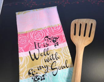 Easter hostess gift etsy easter kitchen towels scripture hostess gift negle Images
