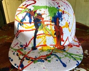 Custom Splatter snapback hats