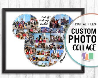 Mickey Mouse Photo Collage, Mickey Collage, Custom Mickey Mouse, Disney Collage, Custom Disney Photo, Custom Photo Collage, Digital Photo