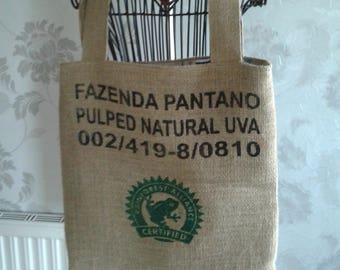 Hessian Tote Shopping Bag