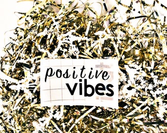 Positive vibes decal