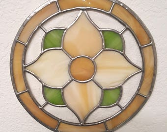 Stained Glass Rosette - Round