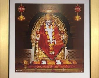 Sai Baba Ji Of Shirdi Photo Frames In Size 10″ x 10″ inches - Indian Saints