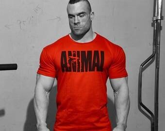 Animal M-Stak Red Tshirt ( L )