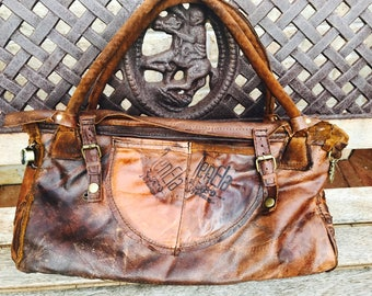 Genuine leather handbag by JenEla designs