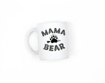 Mama Bear Mug, Coffee Mug, Tea Mug