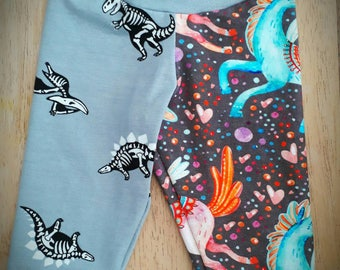 Unicorn Dino Leggings baby leggings toddler leggings kids joggers kids leggings dinosaur leggings unicorn leggings girls leggings