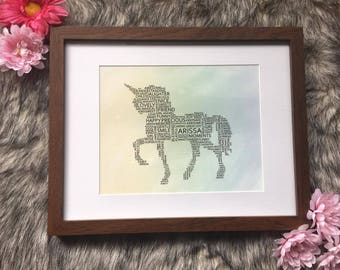 Custom Unicorn WordArt