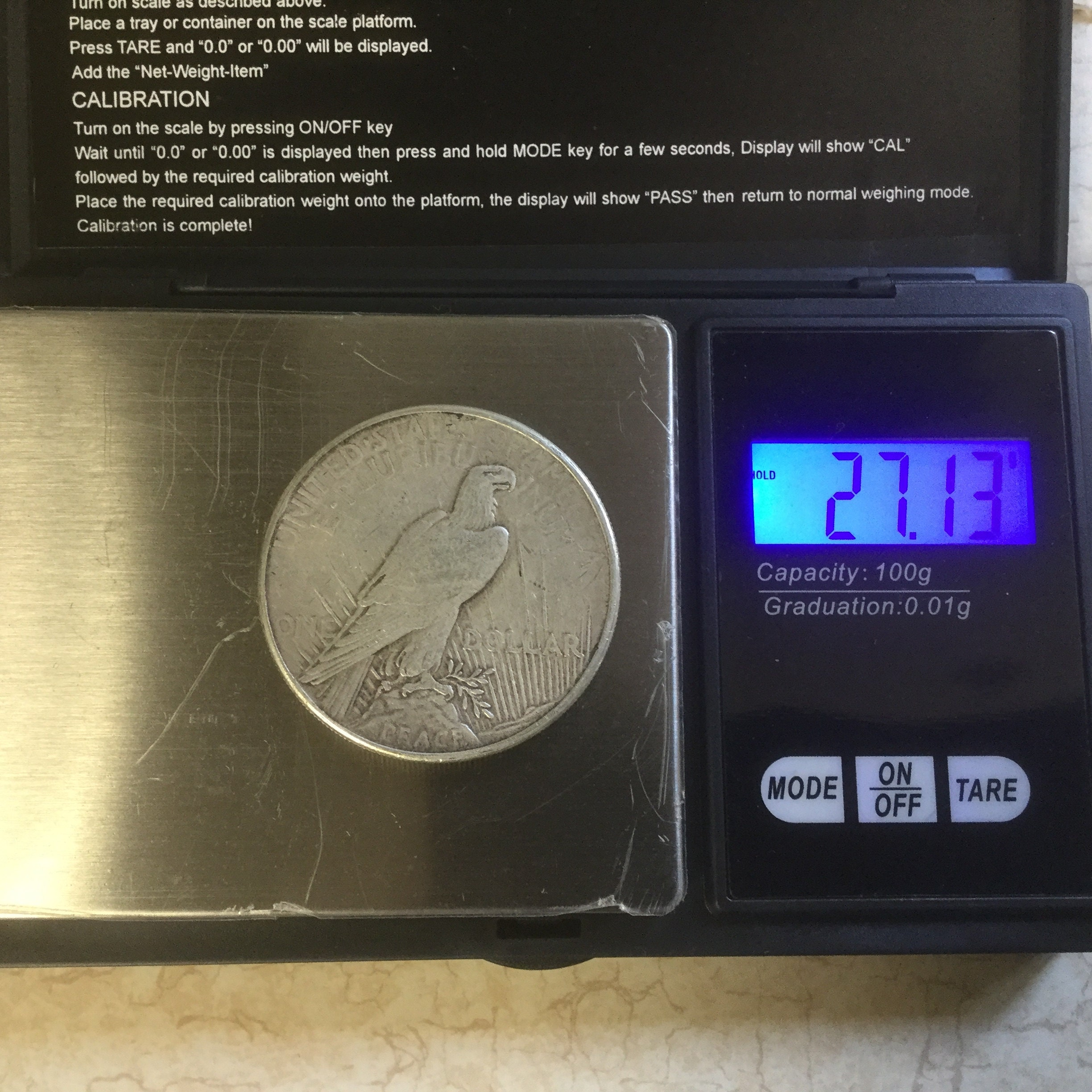silver coins weigh a specific amount