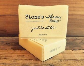 Just Be Still Handmade Bar Soap