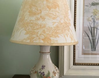 Vintage lamp and shade restored and rewired