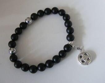 Bracelet Onyx Matt Mens Bracelet