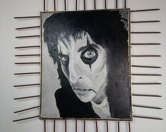 Oil portrait of Alice Cooper
