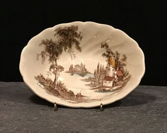 JOHNSON brothers the OLD MILL oval vegtable bowl