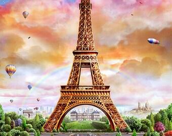 5D Diamond Mosaic Diy Diamond Embroidery Eiffel Tower Square Paste Full Cross Stitch Kit Diy Diamond Painting