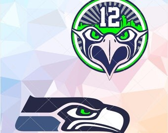 Seahawks logo etsy for Seattle t shirt printing