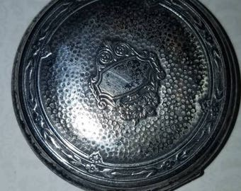 Vintage Silver Compact with powder and mirror