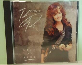 "Used Bonnie Raitt ""Nick of Time"" CD Capital Compact Disc D 154410"