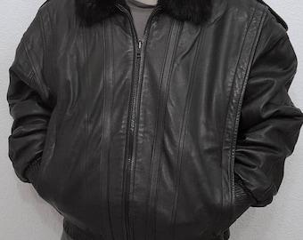 Men's Mink Jacket Reversible to Leather