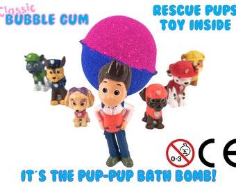 Paw Patrol Surprise Toy Bubblegum Bath Bomb