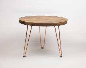 Walnut & Copper Side Table