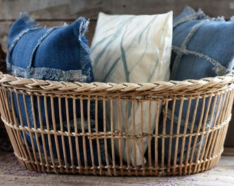 French antique wicker laundry basket 19's. French. French toys trunk. Clothes basket. Storage basket. French ironing basket. Pressing basket
