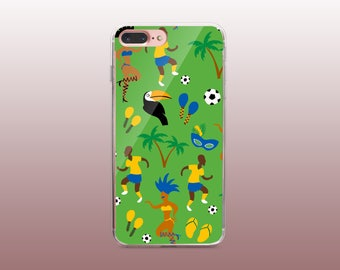 Funny Brazilian Clear TPU Phone Case for iPhone 8- iPhone 8 Plus - iPhone X - iPhone 7 Plus-iPhone 7-iPhone 6-iPhone 6S-Samsung S8