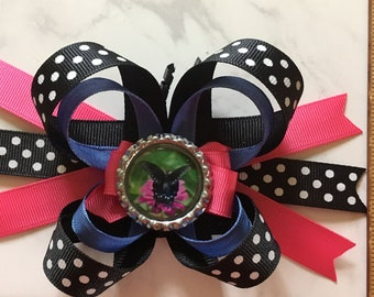 Butterfly Hair Bow, Butterfly Hair Accessory, Custom Hair Bow, Personalized Hair Bow, Photo Hair Bow, Personalized Hair Accessory