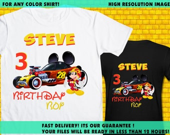 Mickey Mouse And The Roadster Racers Iron On Transfer / Mickey Birthday Shirt Transfer DIY / High Resolution / Fit For Any Color Shirt