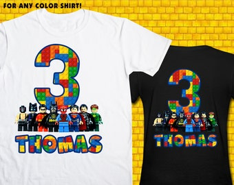 Lego City / Iron On Transfer / Boy Birthday Shirt Design / DIY Shirt / High Resolution / For Any Color T Shirt / 12 Hours Turnaround Time