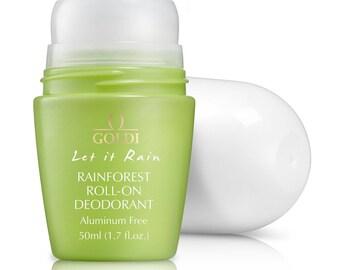 Rainforest Roll-on Deodorant / Sensitive Skin Deodorant / Aluminum free Deodorant