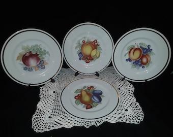 "Royalton China Co. Fruit Plates - 7 1/2 "" made in Japan - Translucent Porcelain -set of 4"