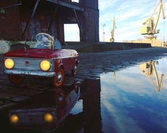 AZAK - MOSKVICH -A pedal car toy - small copy of the original Moskvich car