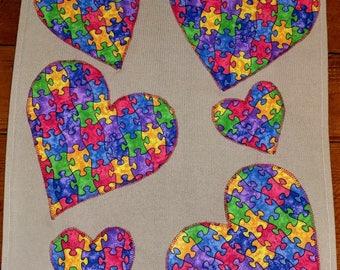 Autism garden flag, Love needs no words 1