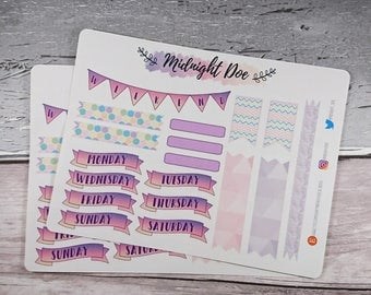 Pastel Planner Weekday Sticker Sheet ~ Weekdays stickers ~ Planner Stickers ~ Weekend Sticker ~ Washi Tape ~ ECLP ~ MAMBI ~ Bujo Stickers