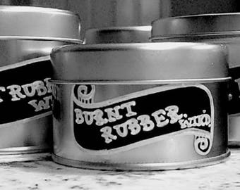 BURNOUT Motorsports-Inspired Natural Soy Wax Candle