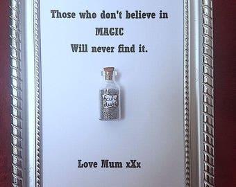 Fairy magic in a bottle frame