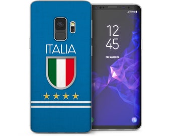 Samsung Galaxy S9 Case, Italy Football Shield Ultra Thin Soft Silicone Cover