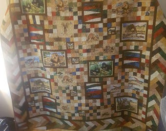 Safari Homemade Quilt