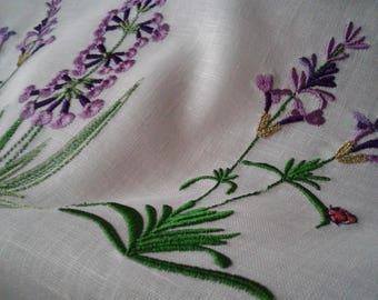 Embroidered Lavender towel