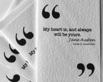 Jane Austin Valentines Quote Card