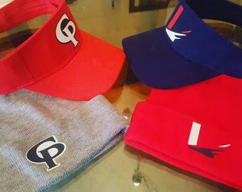 Personalized Visors and Beanies