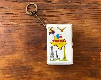 Texas Souvenir Playing Cards Key Chain // Vintage Texas Souvenir Key Chain